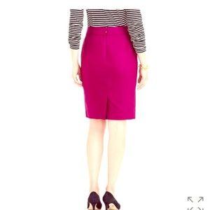 J.CREW Magenta Fuchsia Pencil Knee Length Skirt
